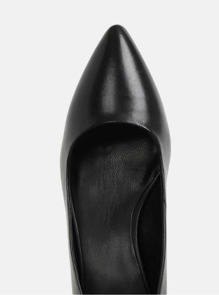 Černé kožené lodičky Vagabond Minna