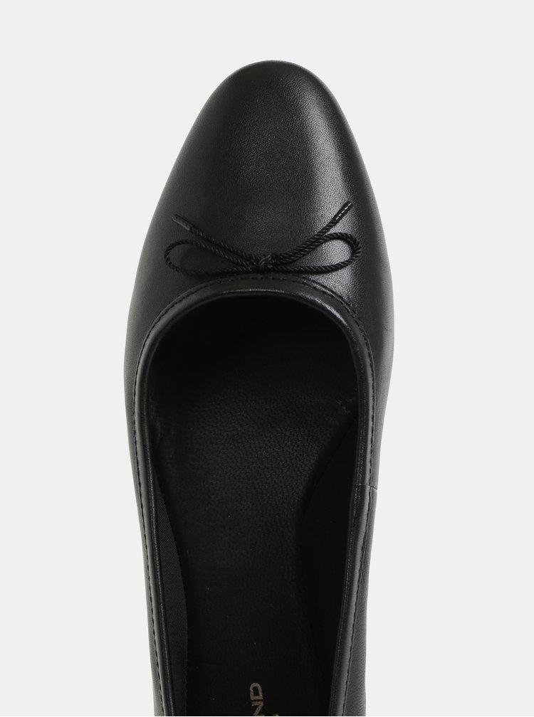 Čierne kožené baleríny Vagabond Sandy