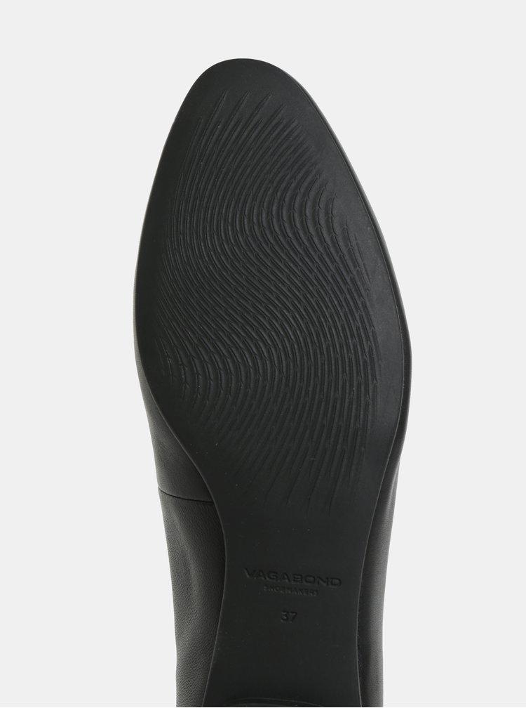 Černé kožené baleríny Vagabond Sandy