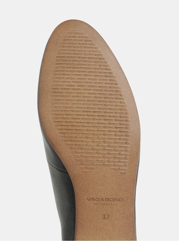 Černé dámské kožené polobotky Vagabond Eliza