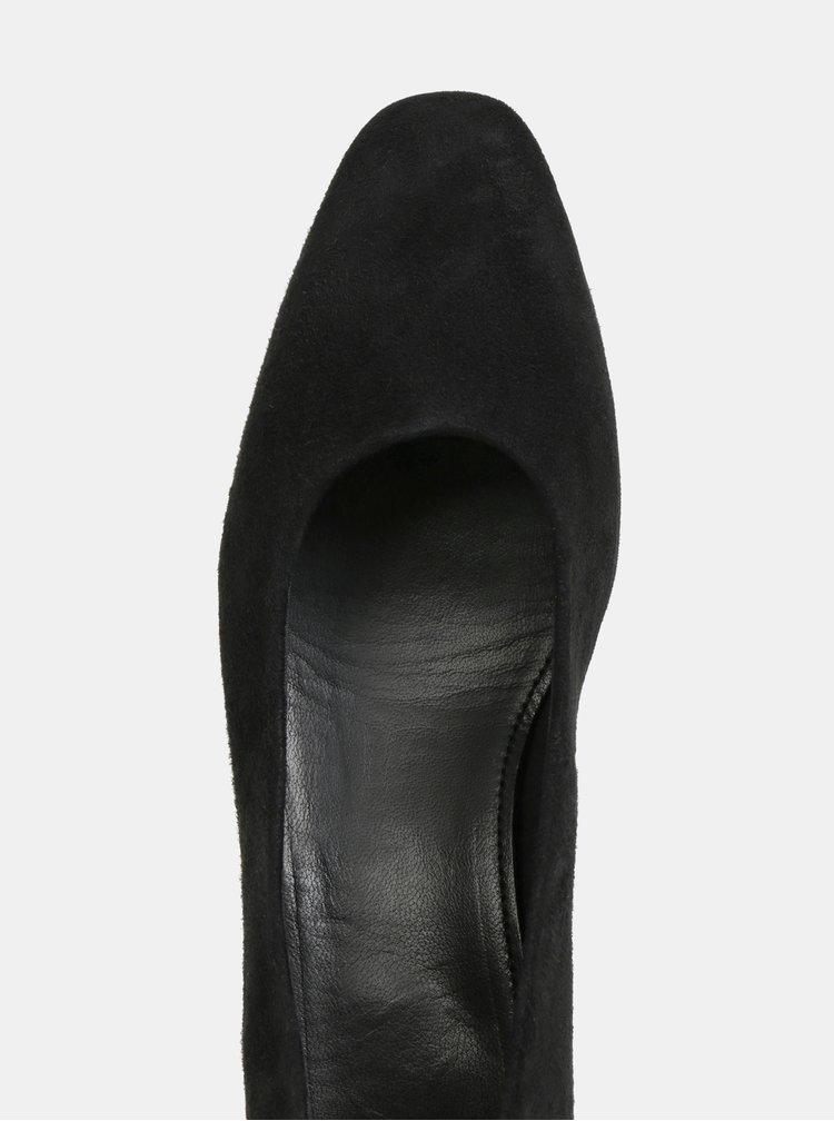 Černé semišové lodičky s nízkým podpatkem Vagabond Joyce