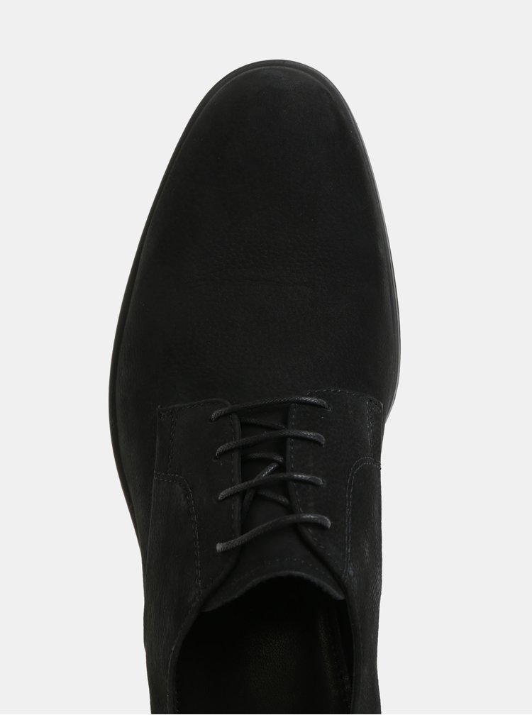 Čierne pánske kožené poltopánky Vagabond Harvey