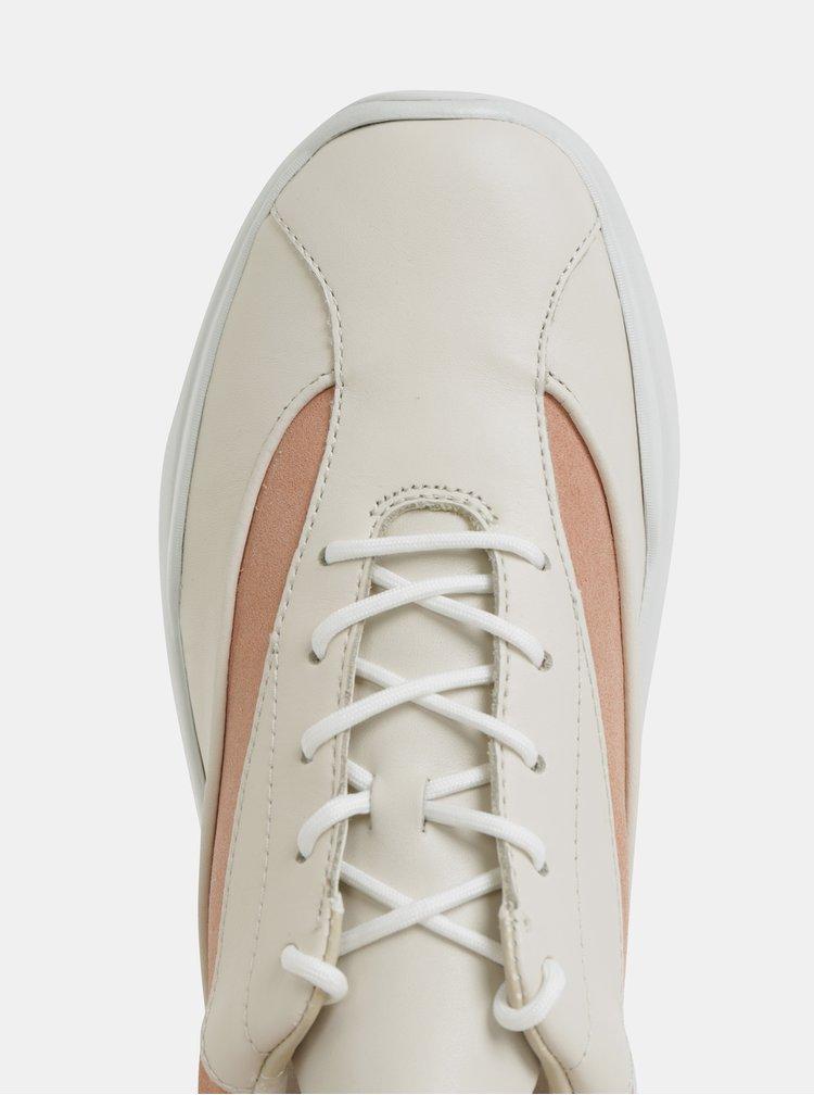 Krémové dámske kožené tenisky Vagabond Lexy