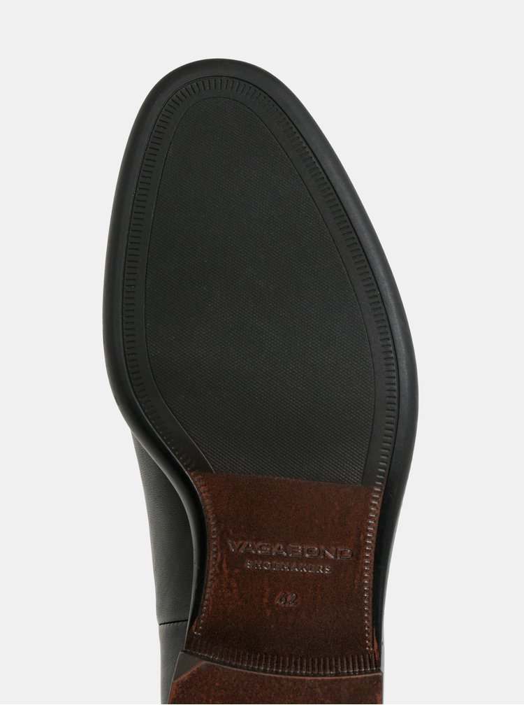 Čierne pánske kožené chelsea topánky Vagabond Harvey