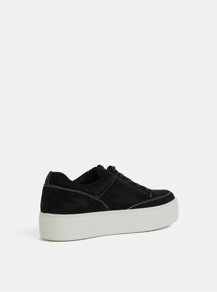 Pantofi sport negri de dama din piele intoarsa cu platforma Vagabond Jessie