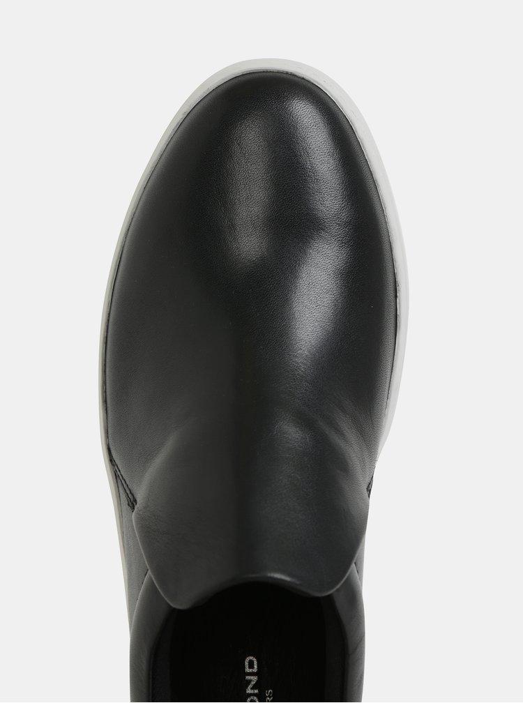 Černé dámské kožené slip on na platformě Vagabond Jessie