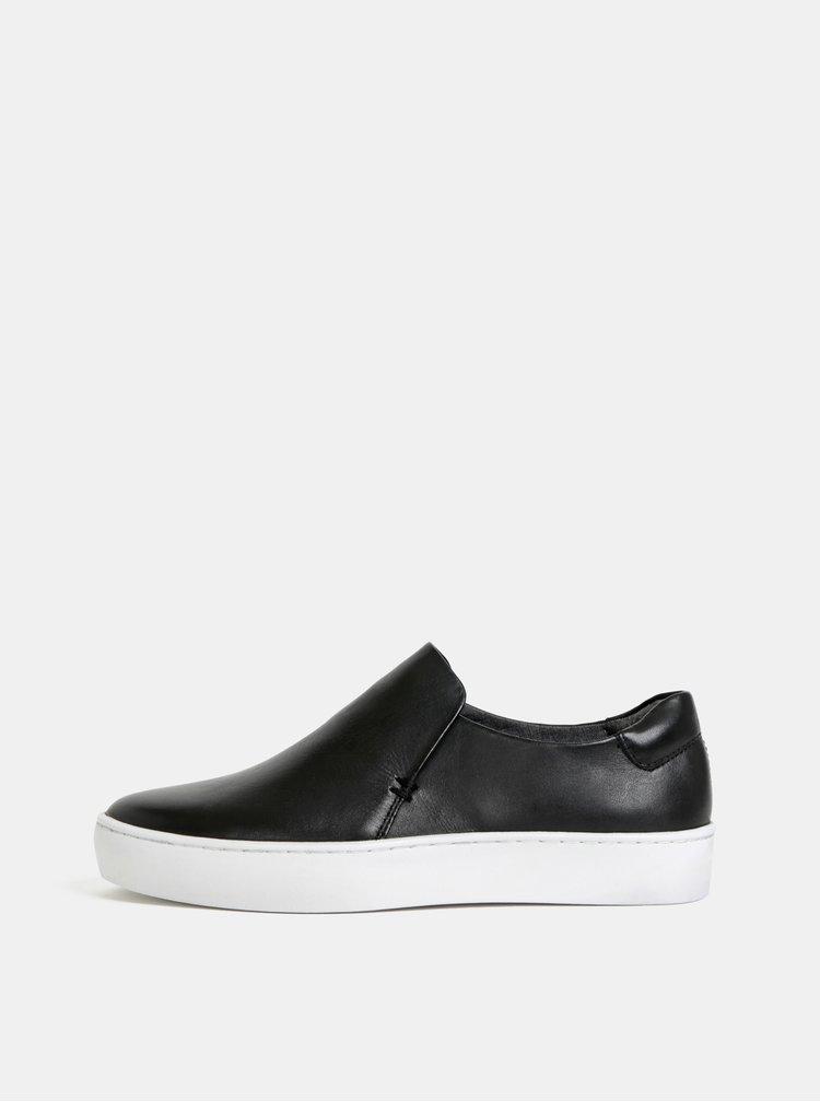 Pantofi slip on negri de dama din piele Vagabond Zoe