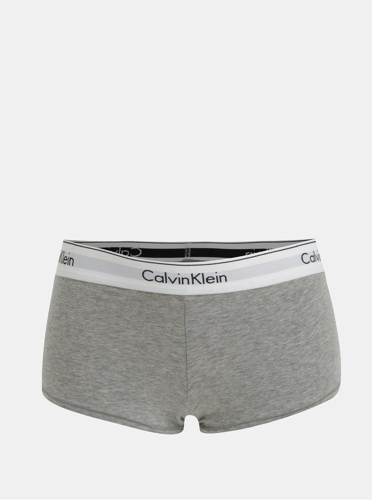 Šedé žíhané kalhotky Calvin Klein Underwear