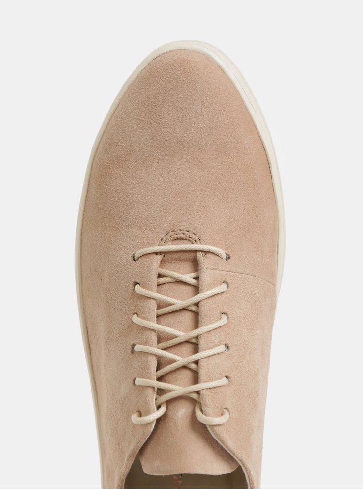 Pantofi sport roz deschis de dama din piele intoarsa Vagabond Camille