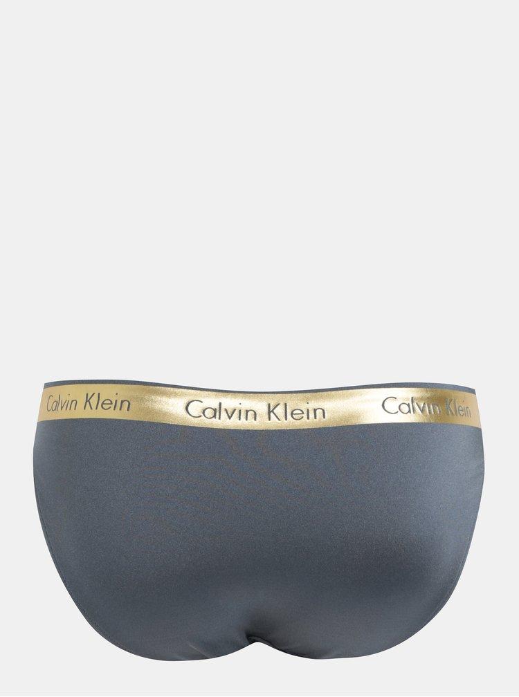 Sivý dámsky spodný diel plaviek Calvin Klein Underwear
