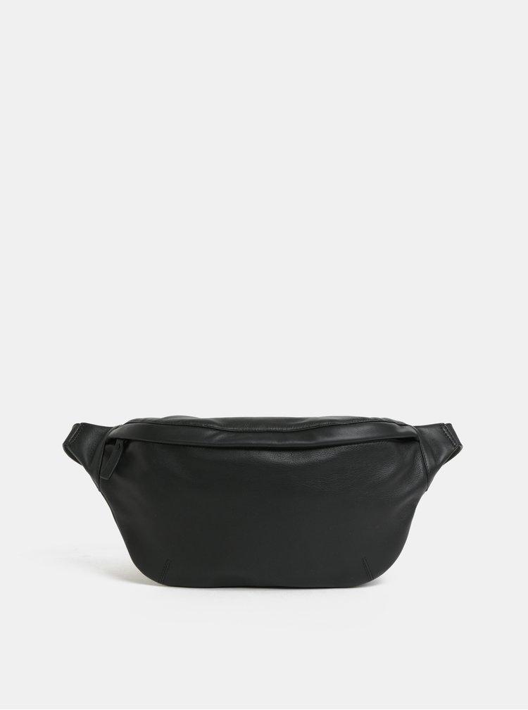 Černá kožená ledvinka Vagabond Umea