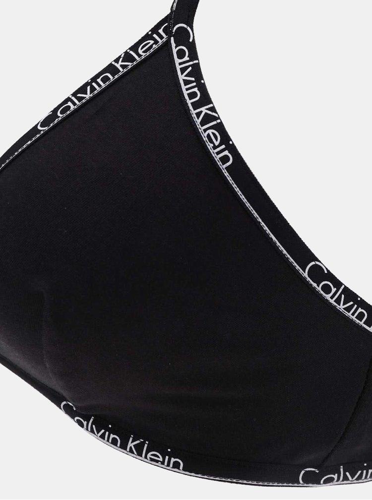 Čierna podprsenka s logom Calvin Klein Underwear