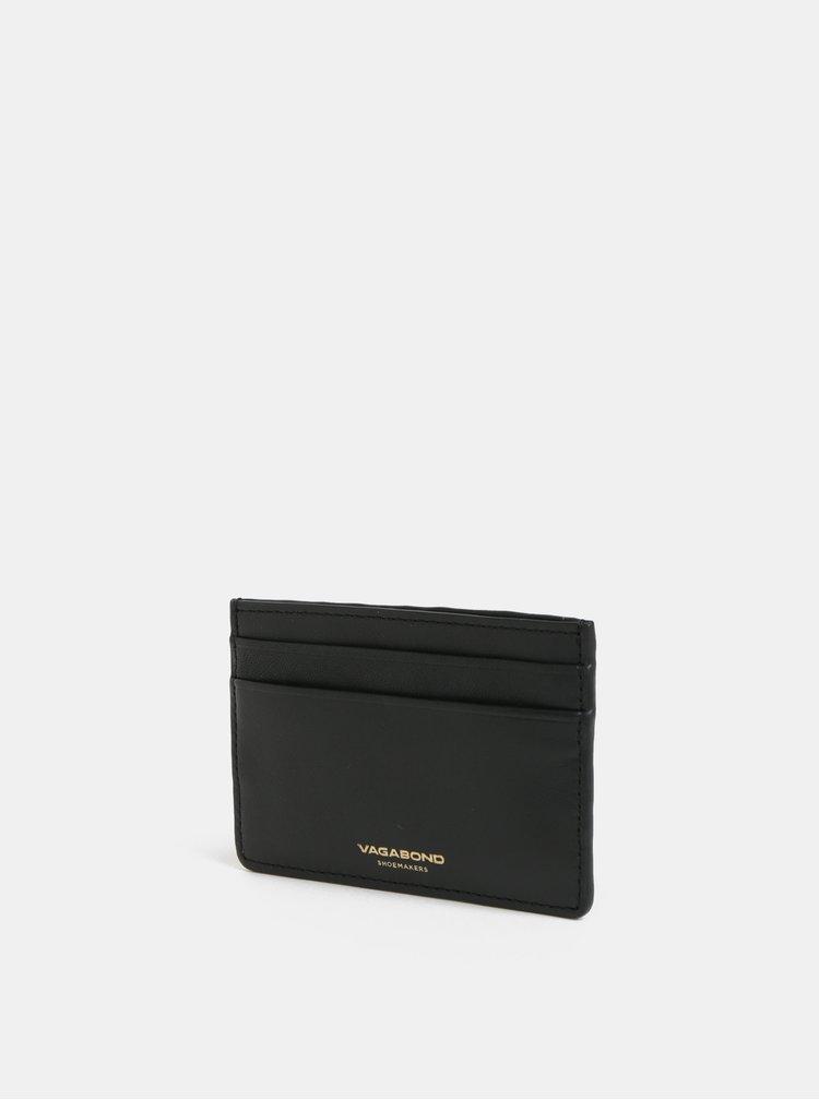 Portcard negru din piele Vagabond Bifrost