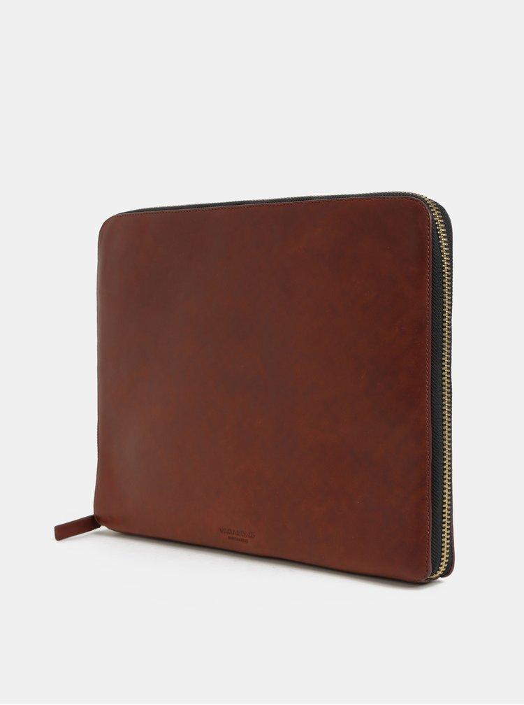 Portofel maro din piele pentru laptop Vagabond Vejle
