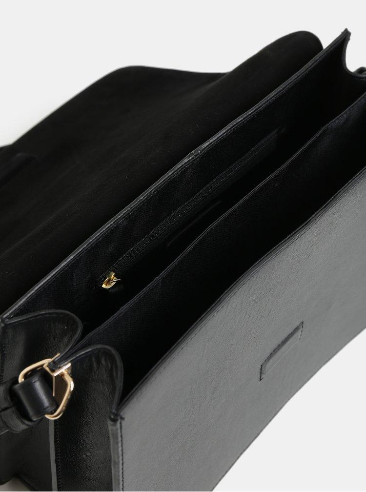 Černá kožená crossbody kabelka Vagabond Virginia