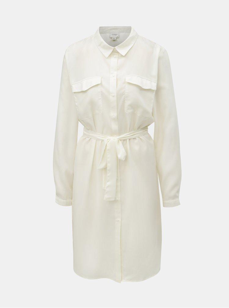 Krémové košeľové šaty Jacqueline de Yong Iben
