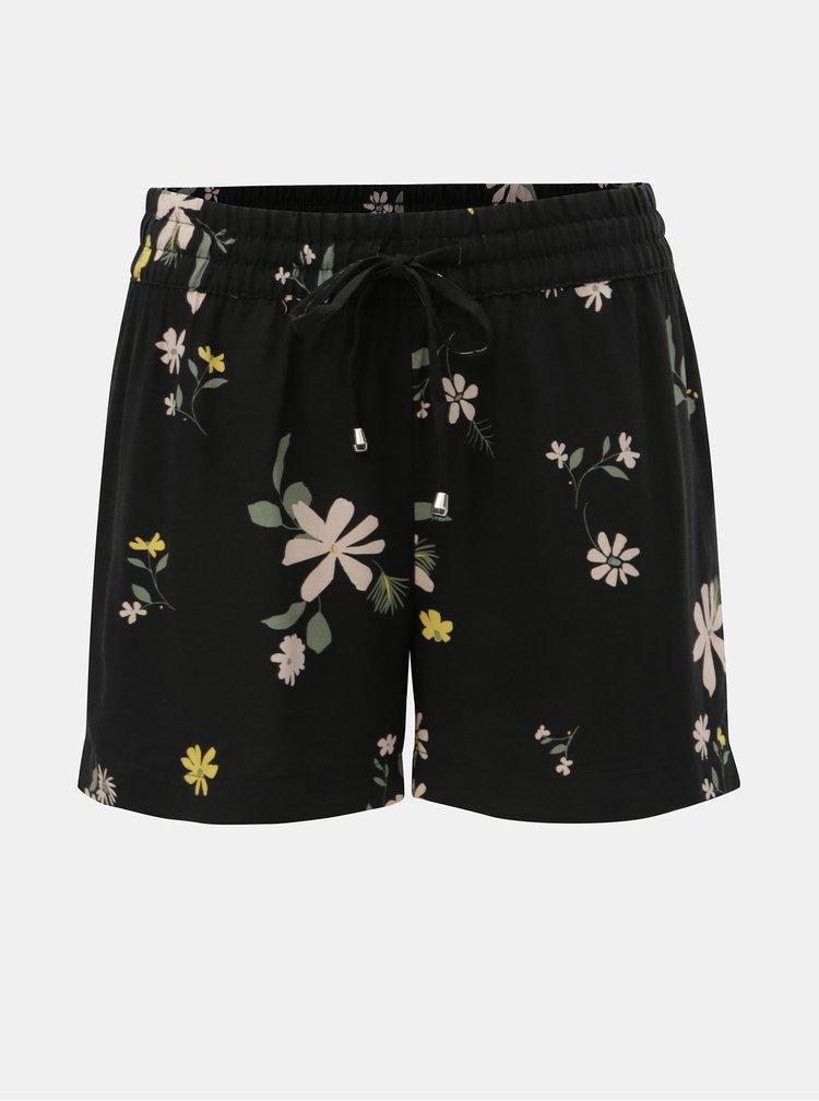 Čierne kvetované kraťasy Jacqueline de Yong Star