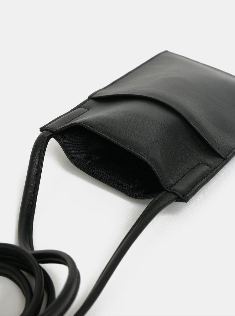 Portofel negru din piele Vagabond Skive