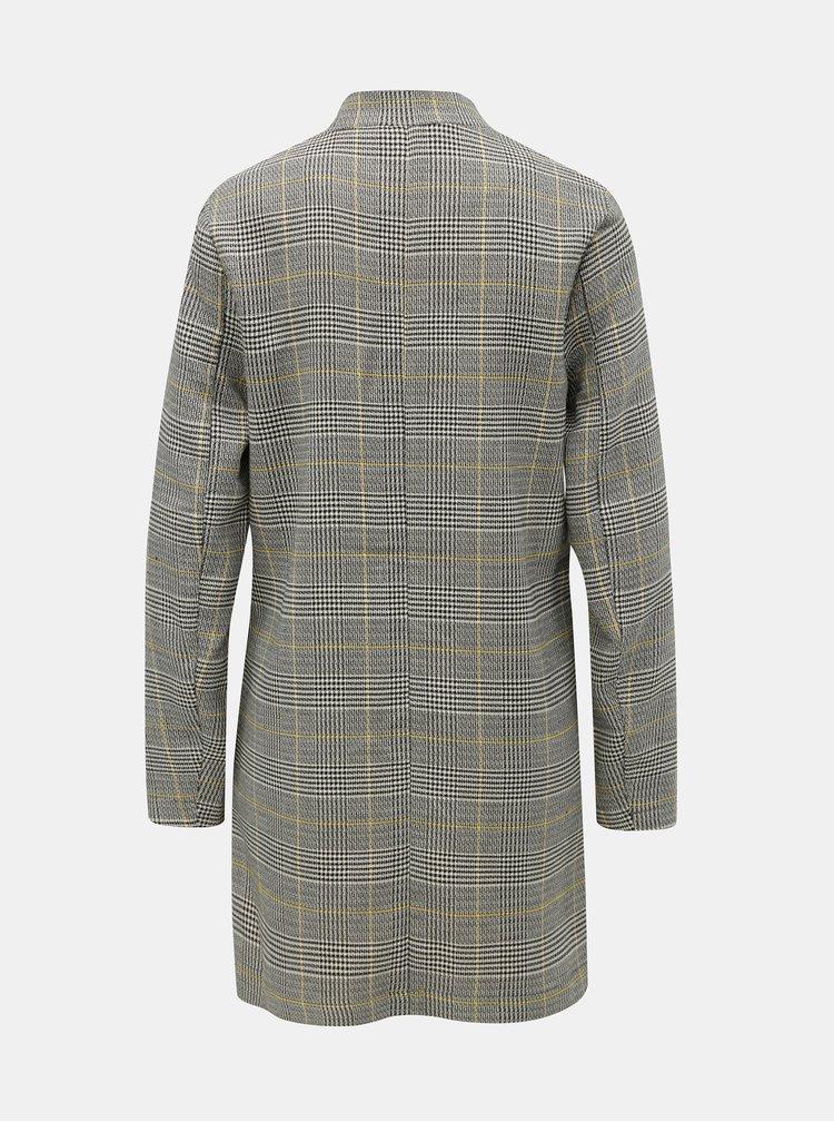Šedý kostkovaný lehký kabát ONLY Jess
