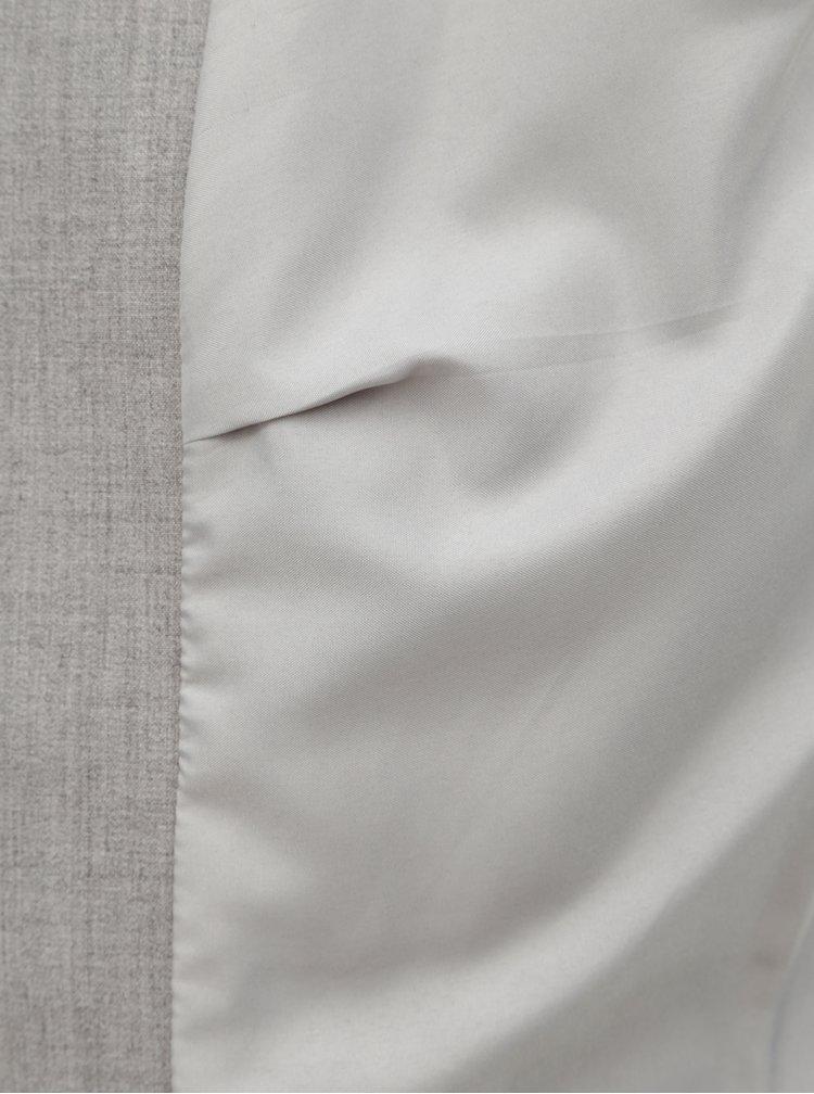 Svetlosivé melírované sako s pruhom na bokoch ONLY Roma