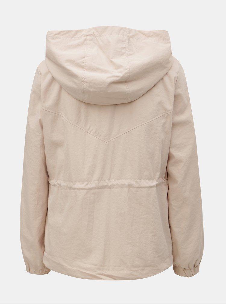 Svetloružová tenká bunda ONLY Cornelia