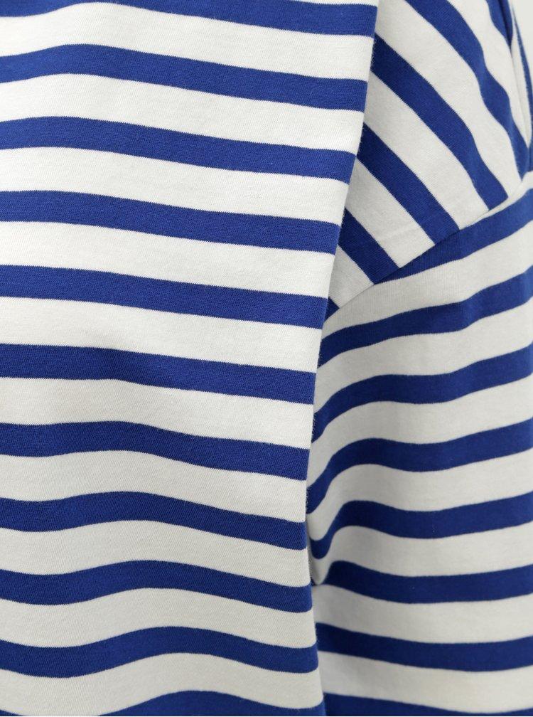 Bílo-modré pruhované basic tričko ONLY Brave
