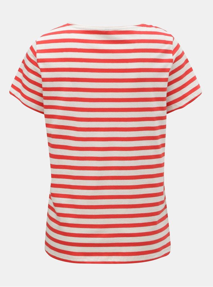 Bielo–červené pruhované basic tričko ONLY Brave
