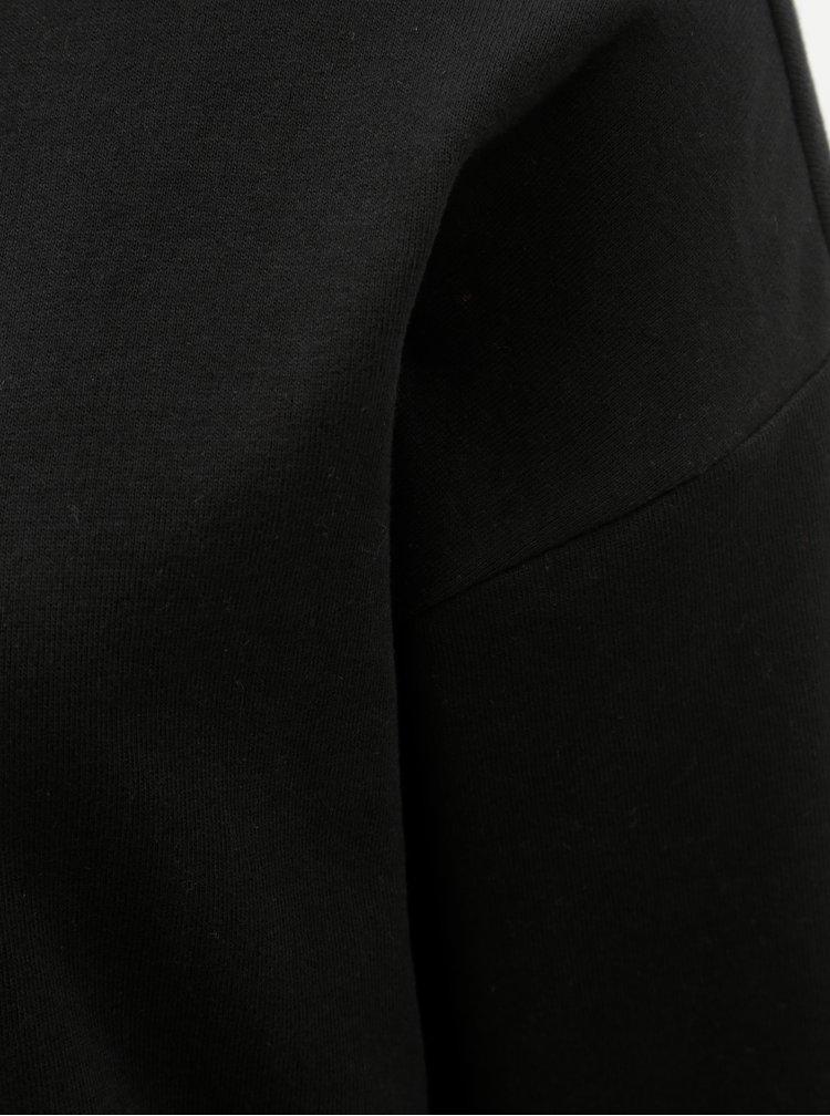 Černá mikina s průstřihem na zádech ONLY Marguerite
