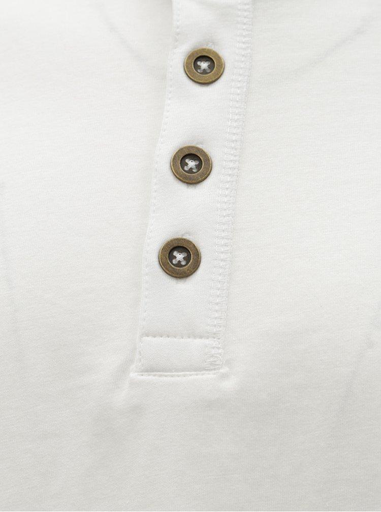 Tricou alb cu maneci lungi si nasturi ONLY & SONS Elton