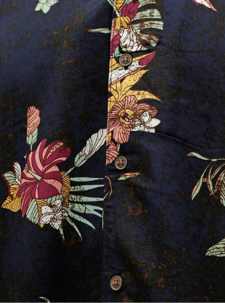 Camasa albastru inchis florala regular fit ONLY & SONS Thomas