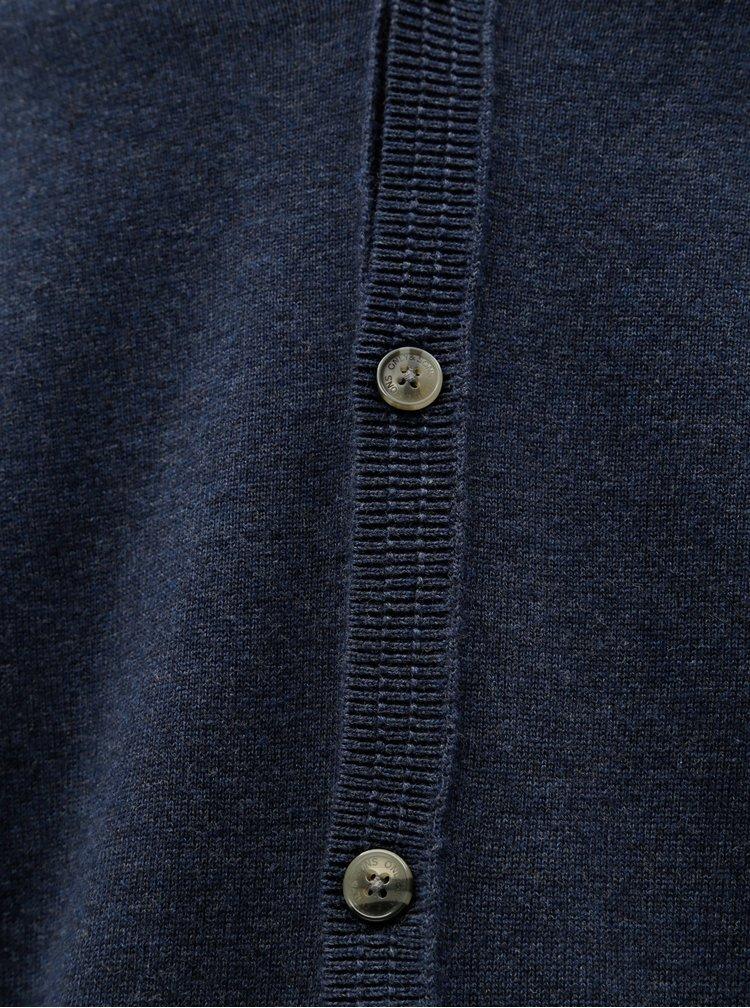 Tmavě modrý kardigan s knoflíky ONLY & SONS Alex
