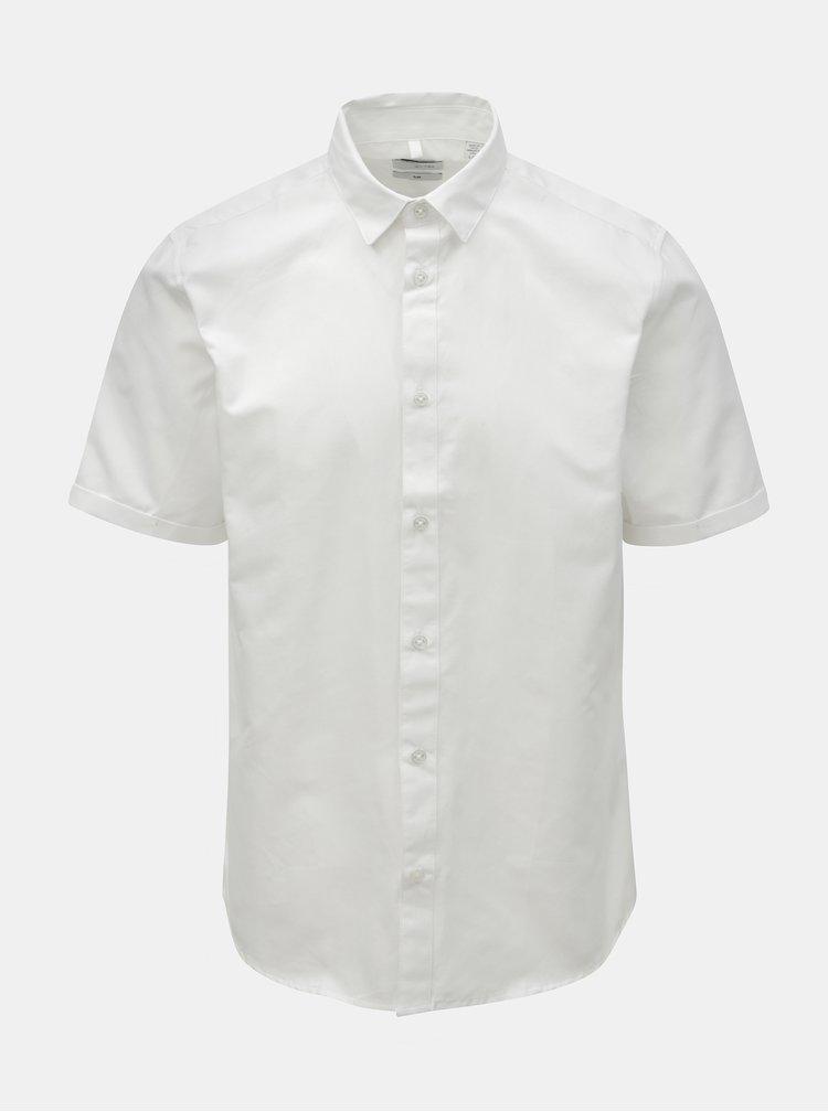 Bílá slim fit košile ONLY & SONS Travis