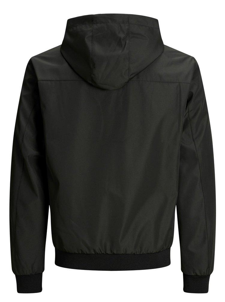 Čierna tenká nepremokavá bunda Jack & Jones Alu