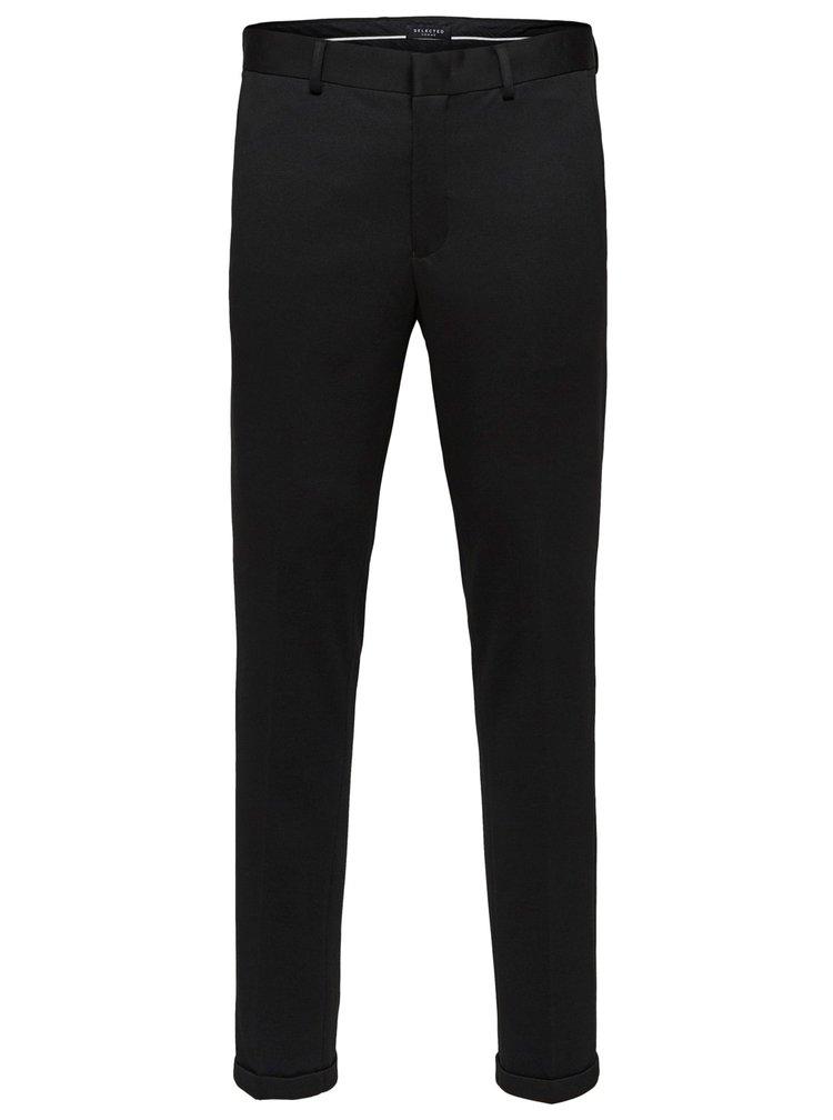 Pantaloni negri skinny fit pana la glezne Selected Homme Jersey