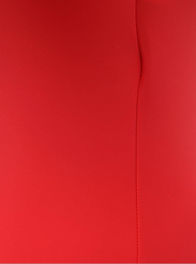 Červené jednodílné plavky VERO MODA Tricy