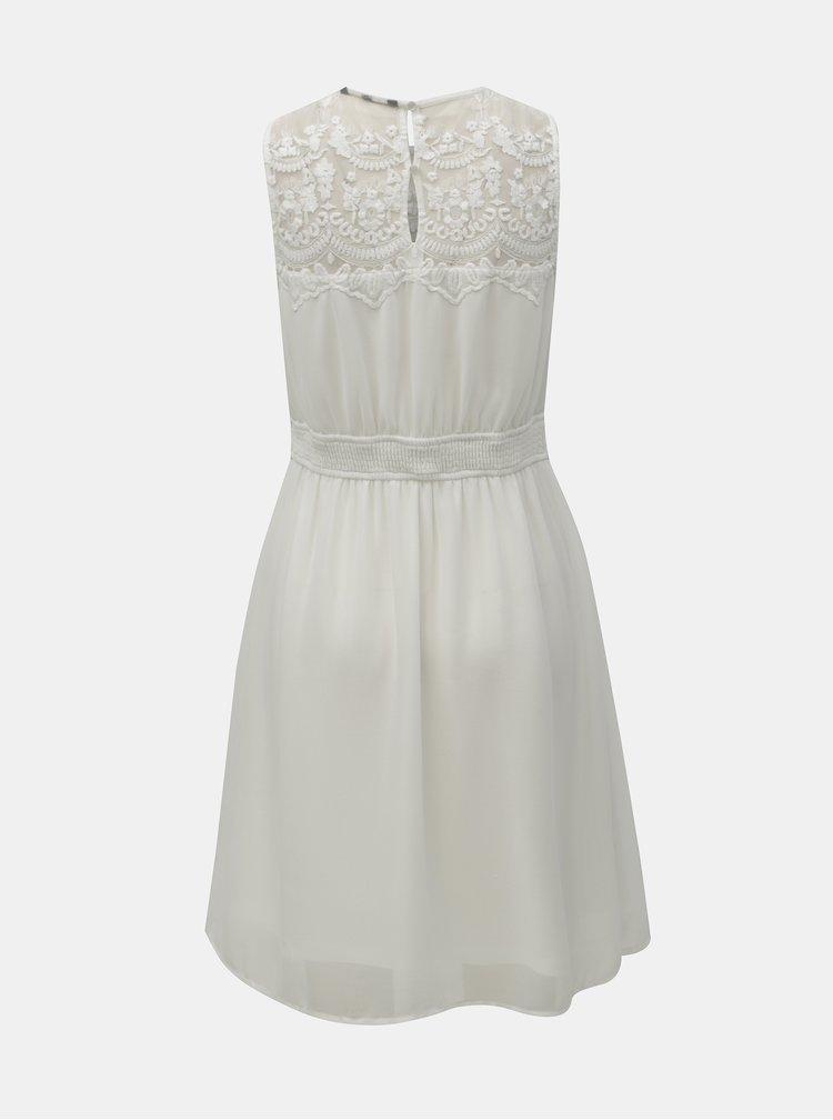 Bílé  šaty s krajkou VERO MODA Vanessa