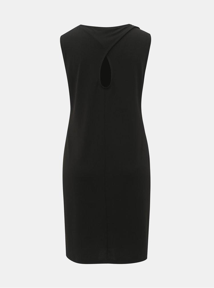 Černé šaty s průstřihem na zádech VERO MODA Milla