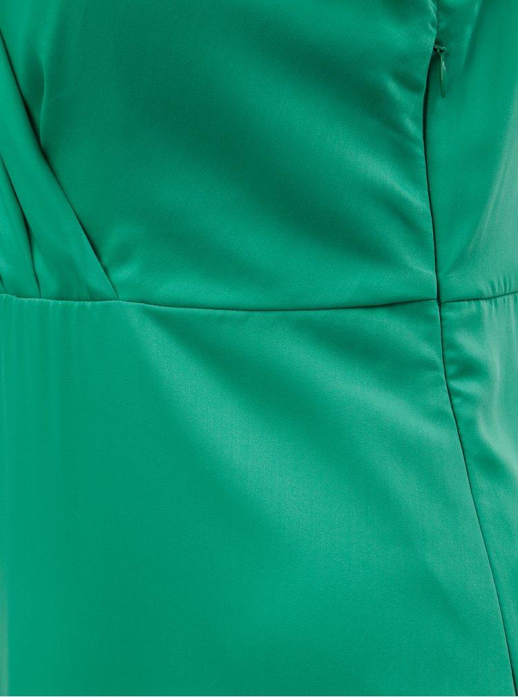 Zelené maxišaty s rozparkem VILA Funda