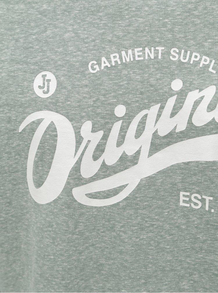 Bluza sport gri deschis melanj cu imprimeu Jack & Jones Summer Time