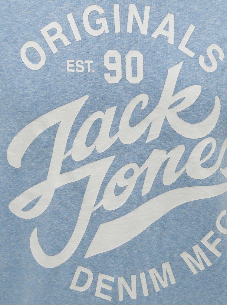 Bluza sport albastru deschis melanj cu imprimeu Jack & Jones Summer Time