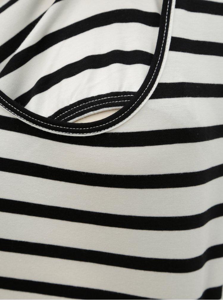 Set de 2 tricouri alb si albastru pentru alaptat Mama.licious Lea