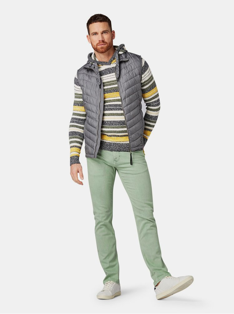 Blugi barbatesti verde deschis slim fit Tom Tailor