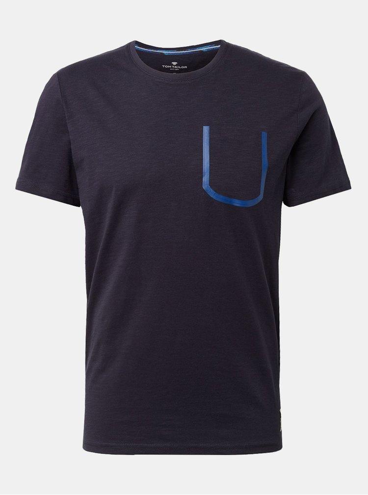Tmavě modré pánské tričko s kapsou Tom Tailor