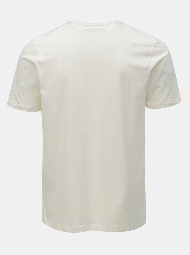 Krémové tričko s potiskem Selected Homme Chester