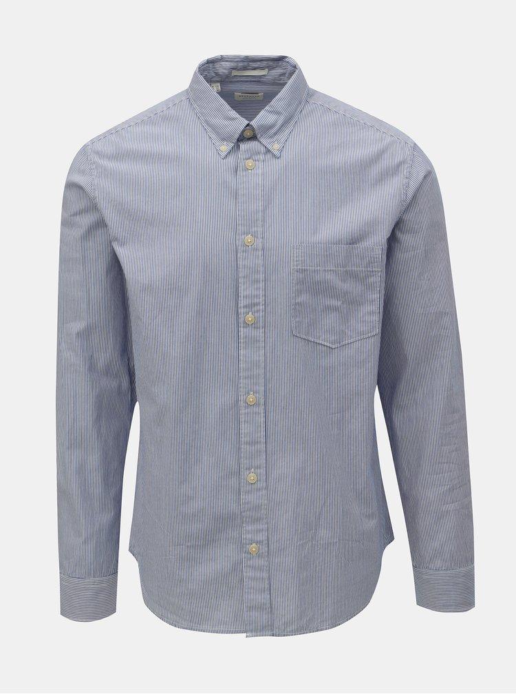 Světle modrá pruhovaná regular fit košile Selected Homme Landon