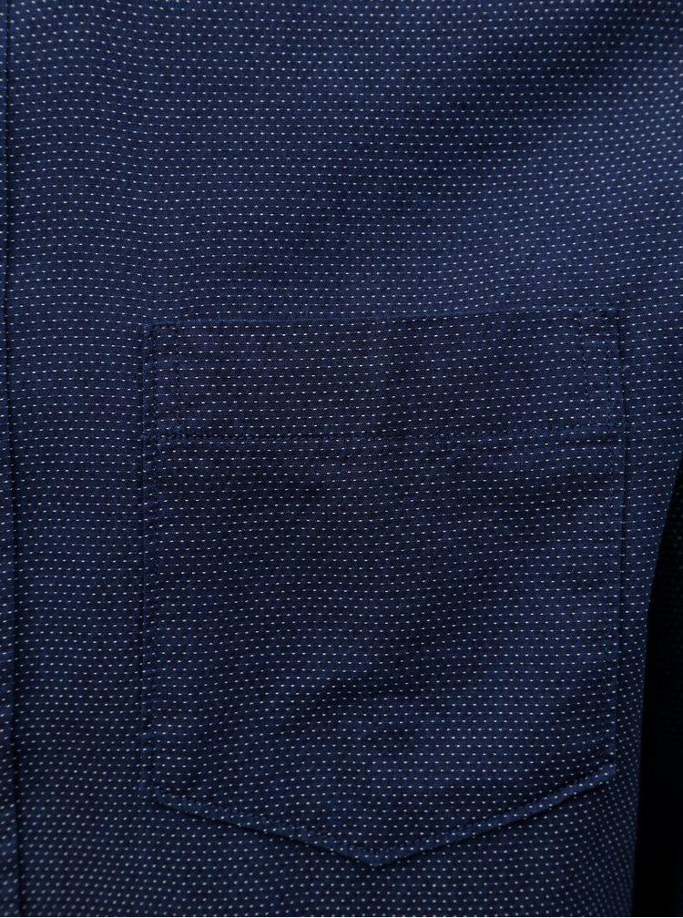 Tmavě modrá puntíkovaná regular fit košile Selected Homme Landon