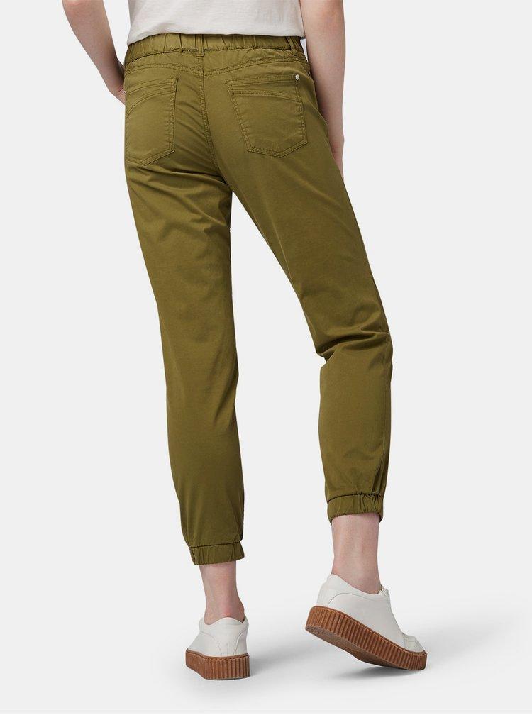Khaki dámské zkrácené kalhoty Tom Tailor Denim