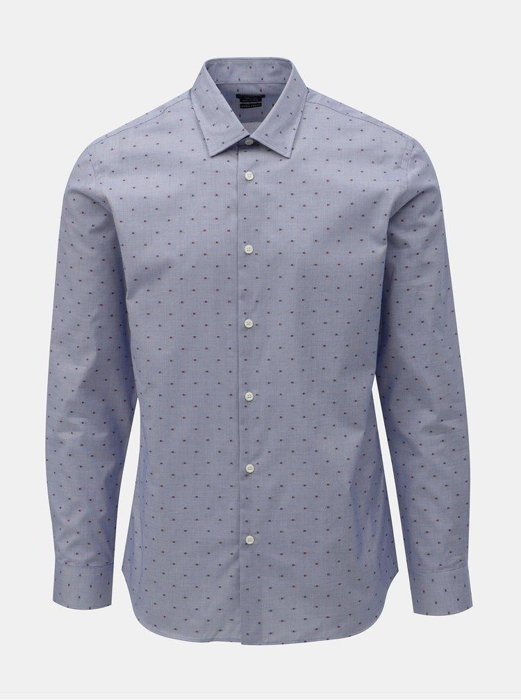 Camasa albastru deschis regular fit cu model Selected Homme Jack
