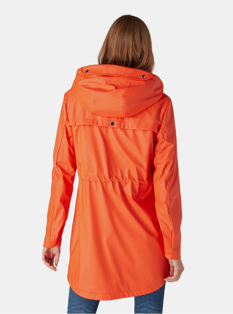 Jacheta parka oranj impermeabila de dama Tom Tailor