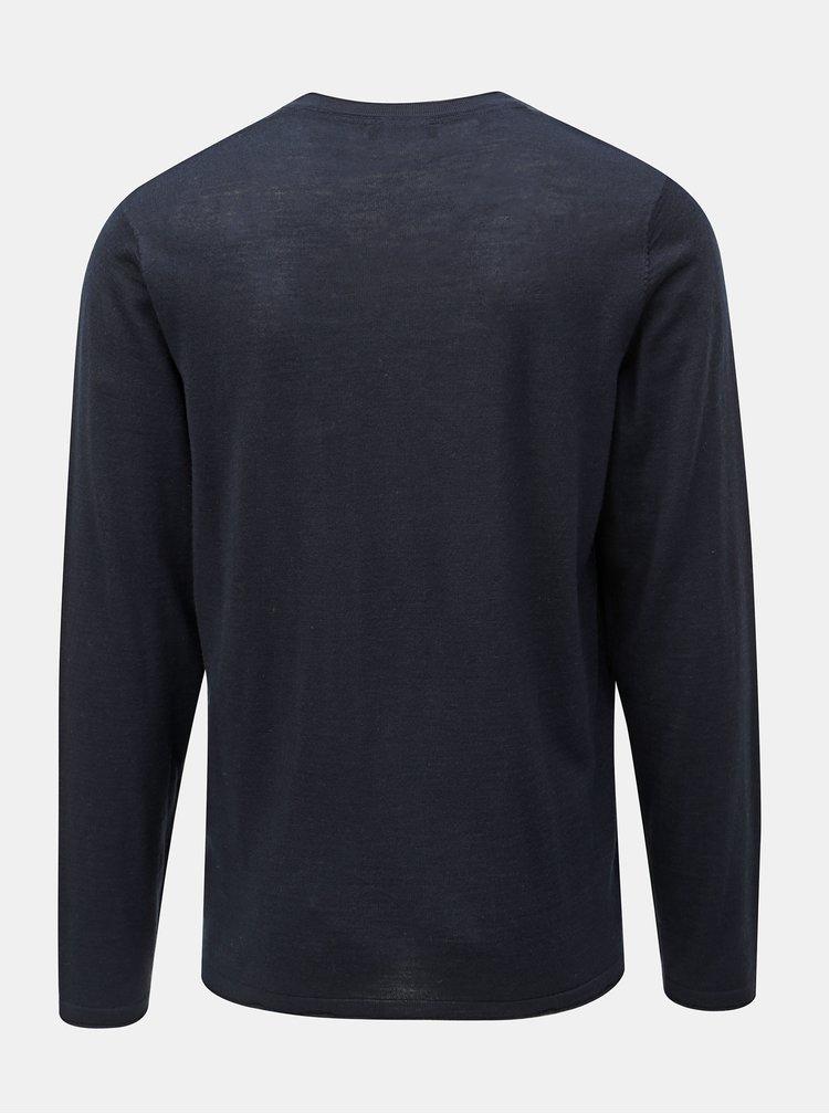 Tmavě modrý kardigan z Merino vlny Selected Homme Thom